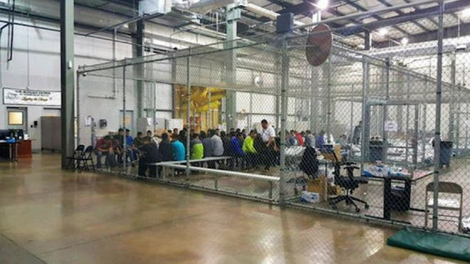 """Immigrants call a Texas detention facility """" La Perrera —dog kennel in Spanish—in reference to the cages used to hold children and adults who have ended up there after crossing the border from Mexico illegally. ( https://www.bbc.com/news/world-us-canada-44518942)"""