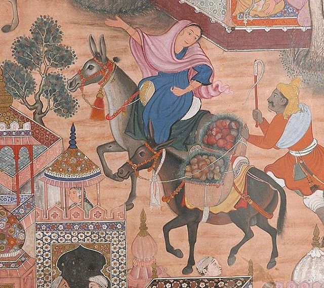 The Spy Zambur Brings Mahiya to the City of Tawariq from the Book of Hamza . Attributed to Kesav Das and Mah Muhammad . . . . . #RumanProject #interfaith #religion #refugees #womensempowerment #Christianity #Islam #MuslimChristianRelations #muslim #BookofHamza #KesavDas #MahMuhammad #theSpyZamburBringsMahiyatotheCityofTawariq #art #muslimart