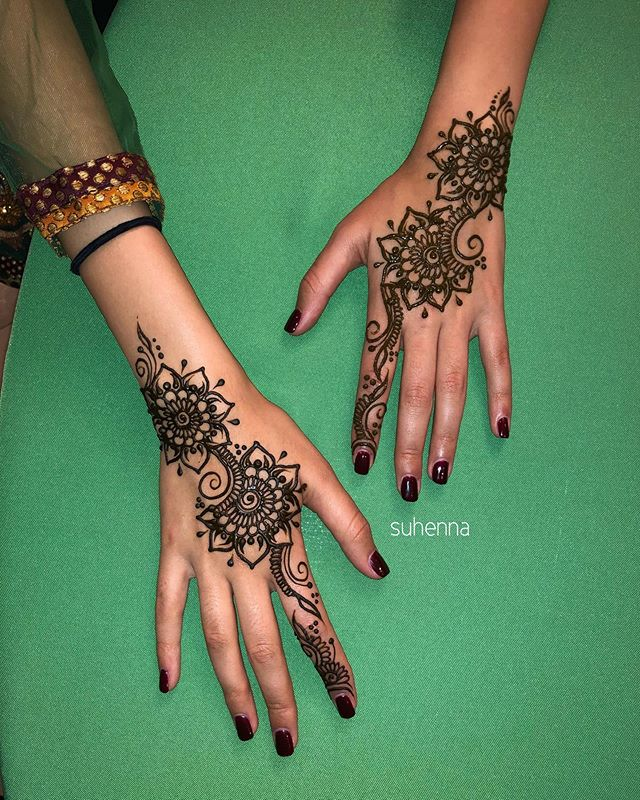 Which one is your favorite? Some of the bridal party henna from @aradmehta east meets west wedding! It was an absolutely beautiful weekend and we are honored to have been a part of it! .