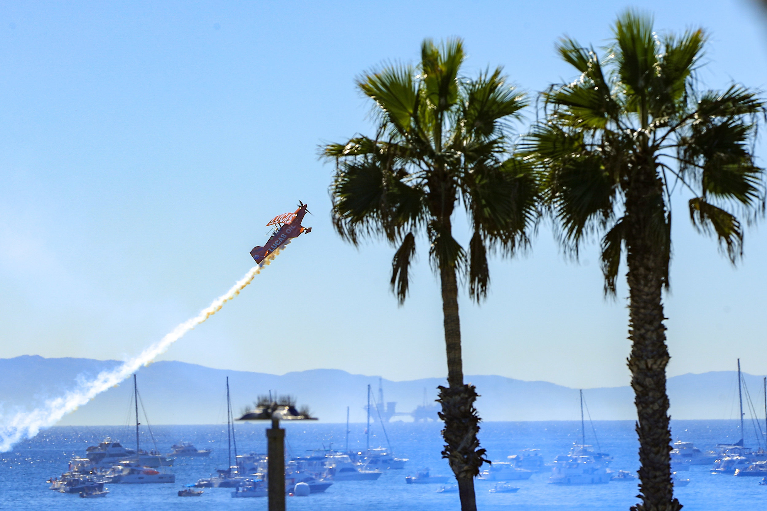 The Great Pacific Airshow - blends the excitement of extreme sports, high-tech aerial acrobatics, beachside surf nostalgia, and patriotism to give viewers an unforgettable experience in the sand and on the water.