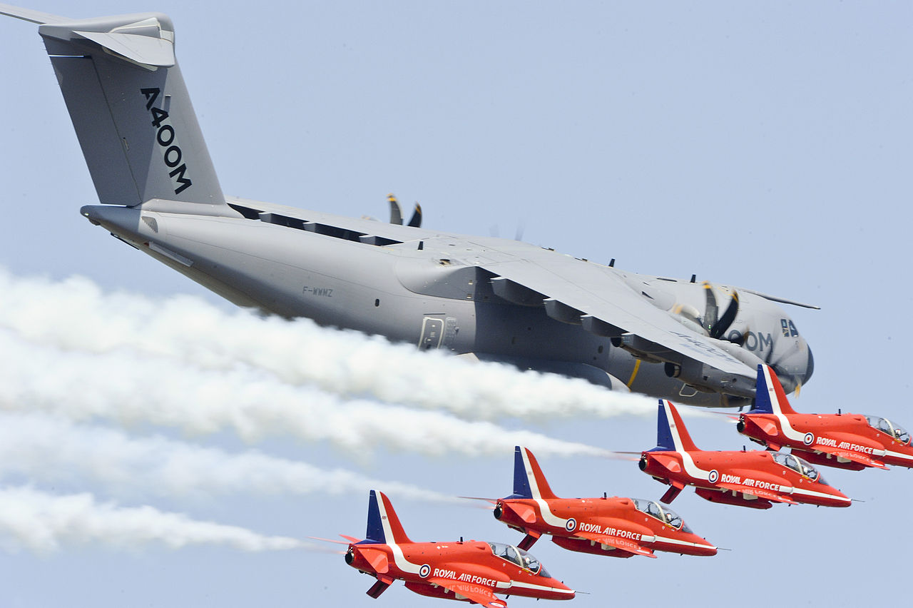 A400M and the RAF Red Arrows