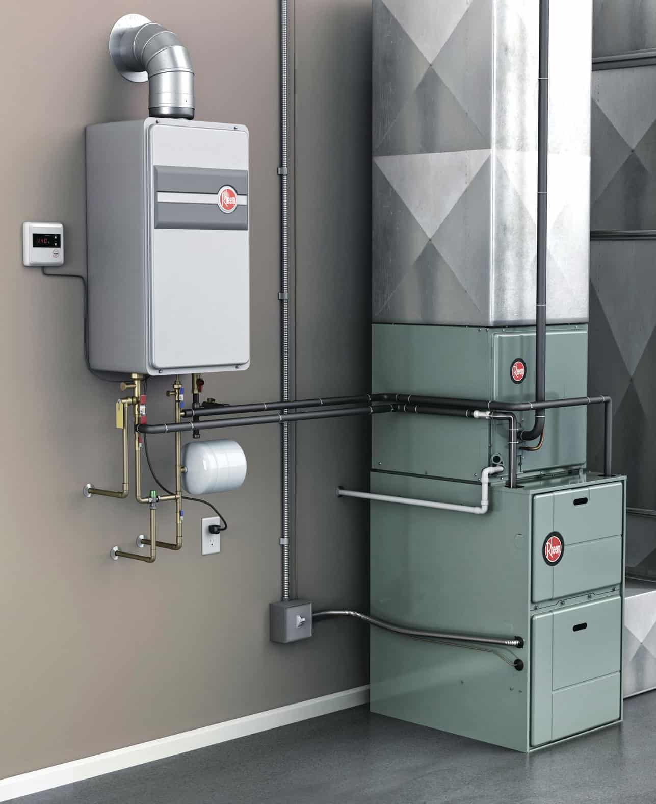 Tankless water heater are great space savers.