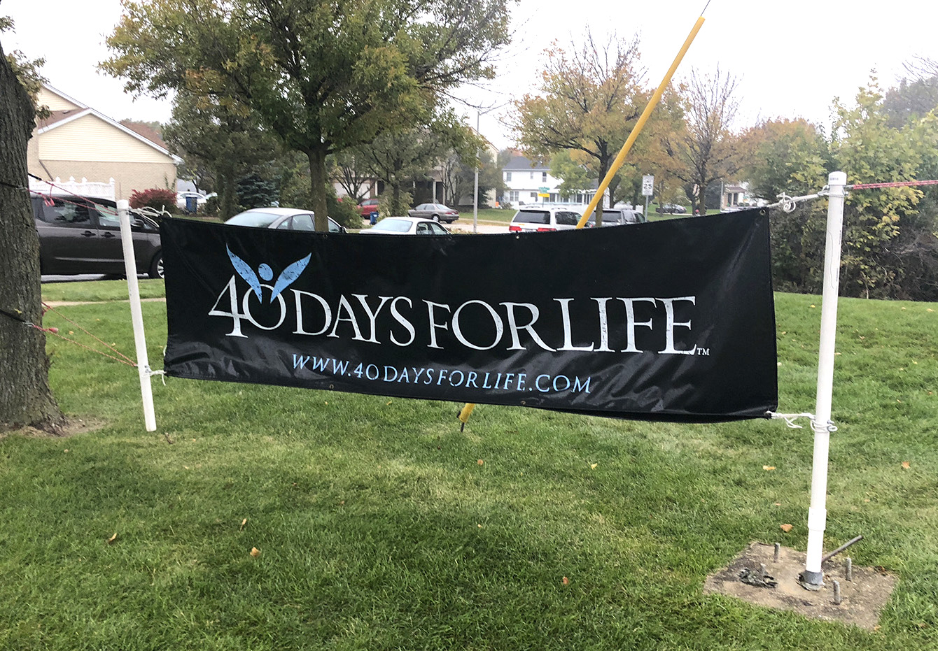 40 Days for Life sign