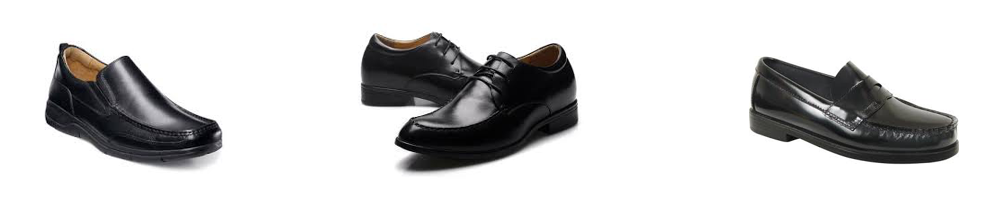 Acceptable shoes for the gentlemen.