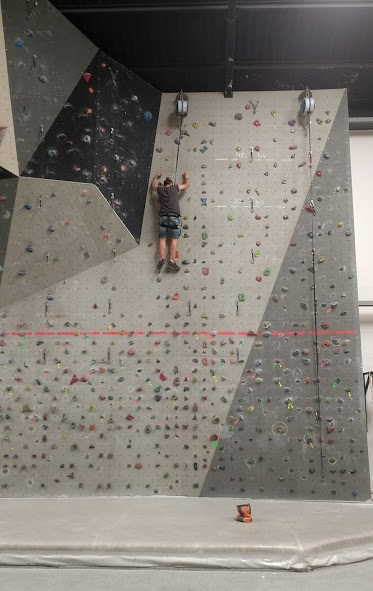 A patient on the climbing wall (2018)