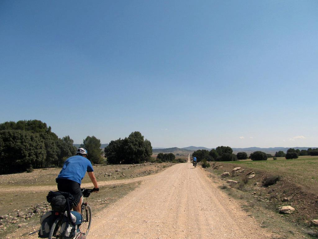 Alex in our 2-day bike-touring trip between Cuenca and Valencia, back in 2012.