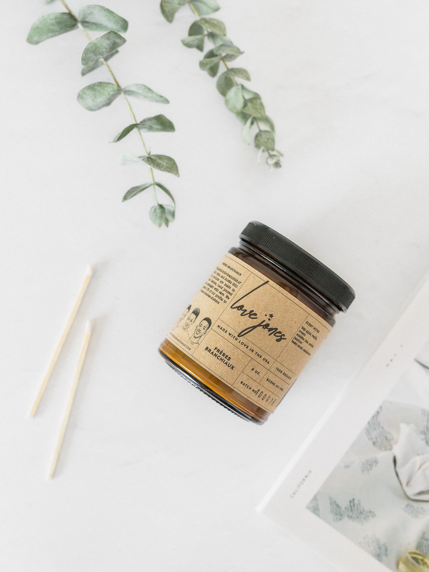 Voyage + Heart Product Photography - Frerés Branchiaux Candle Co - Mail In Product Photography for Brands Worldwide - Organic Soy Wax Candles - DC Makers