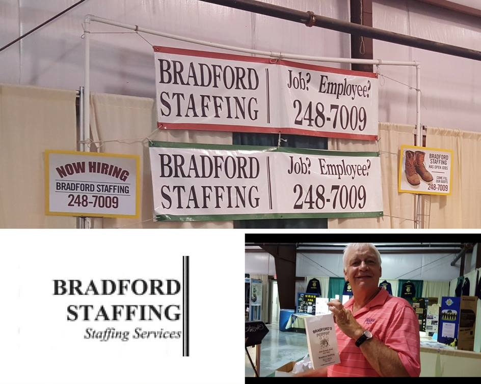 Augusta County Fair - Every year, Bradford Staffing gives out the