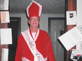Valentine's Day Business Showcase - The Chamber hosts a business showcase where companies can display what they do. For one held on Valentine's Day, we not only had a booth, we brought Saint Valentine himself. Our ad to businesses was that St. Valentine married Romans in 200 AD; Bradford can get a marriage between your company and your next employee.