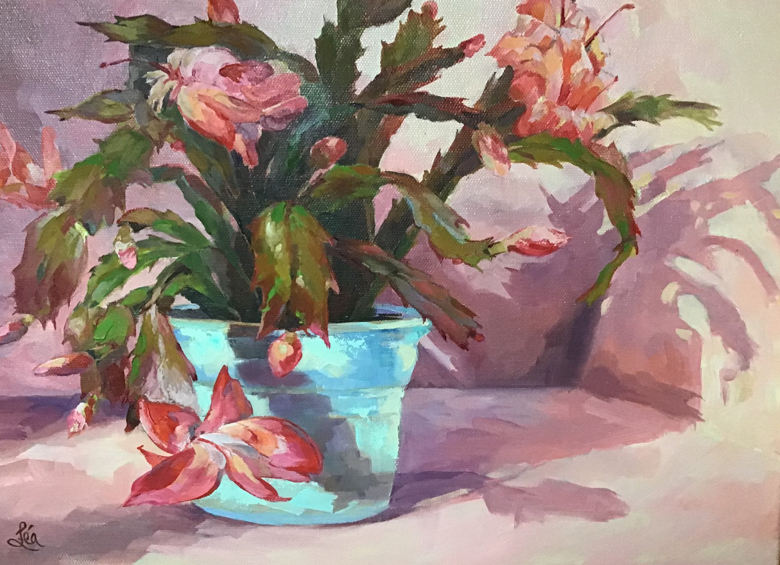"""Christmas Cactus"", by Lea Petersen"