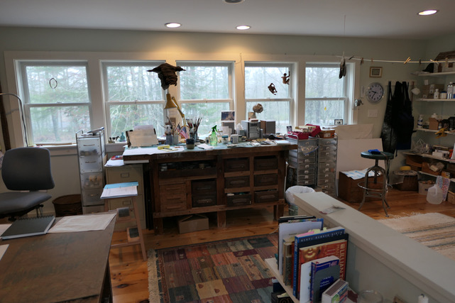 My studio in Woolwich, Maine.