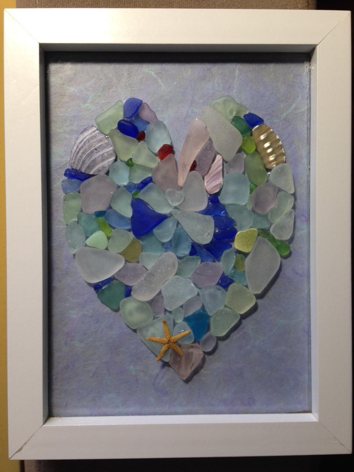 Seaglass Heart