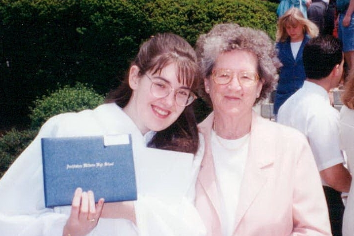 Me and Nana at my high school graduation, 1994