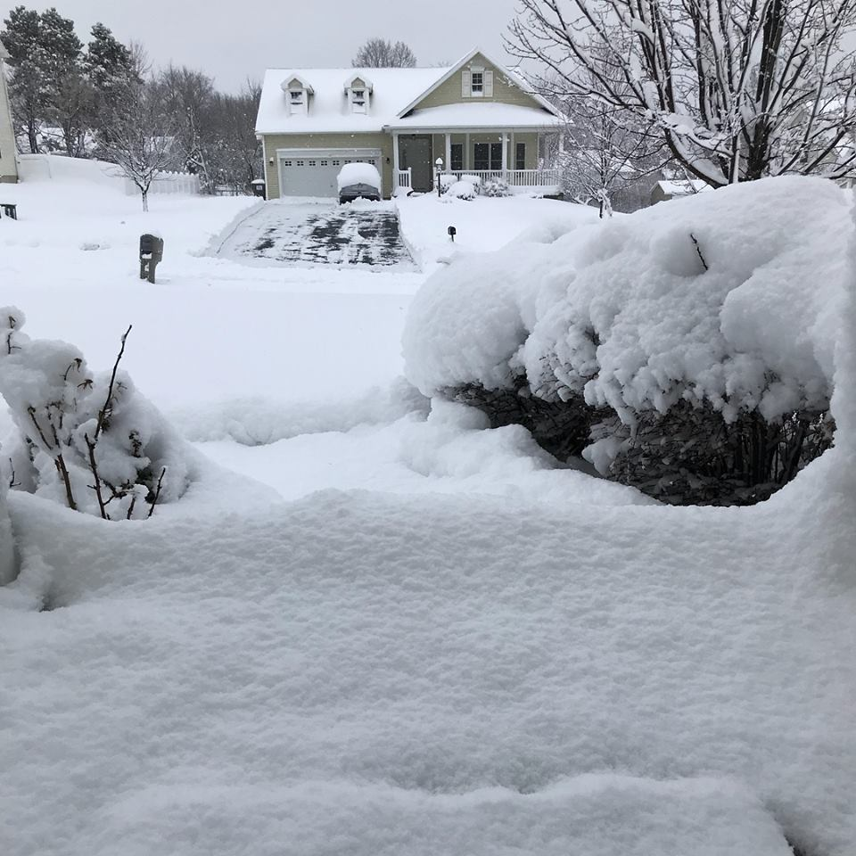 """The view from our front door during one of those """"can't get out of the house"""" moments."""