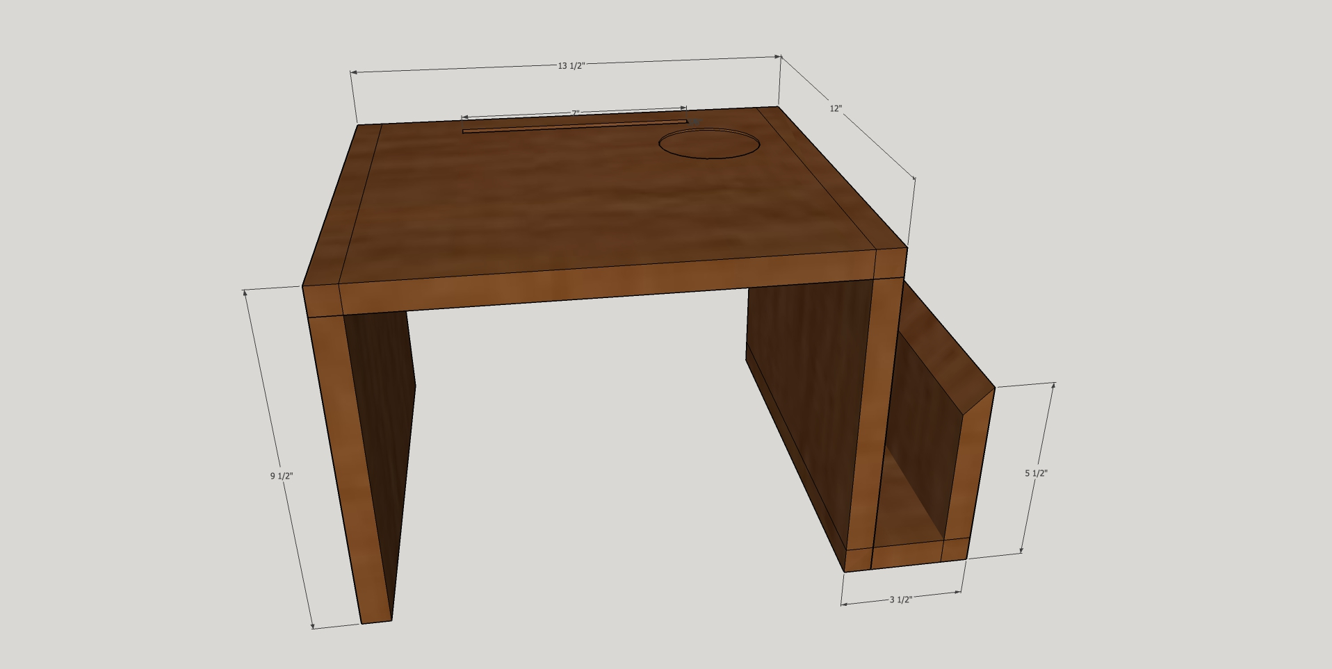 It's always good to make your design in SketchUp first