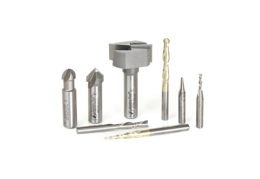 Axiom 8pc CNC router bit set