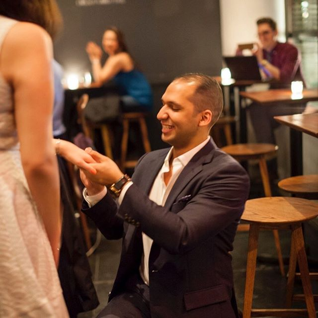 When Jonathan asked me to be at Ardesia Wine Bar in NYC at 1am to take photos of him proposing to Donna, I was all in. Despite train delays, a last minute timing change, and being iPhone blocked by another patron, things came together when it mattered. And Donna said 'yes'!