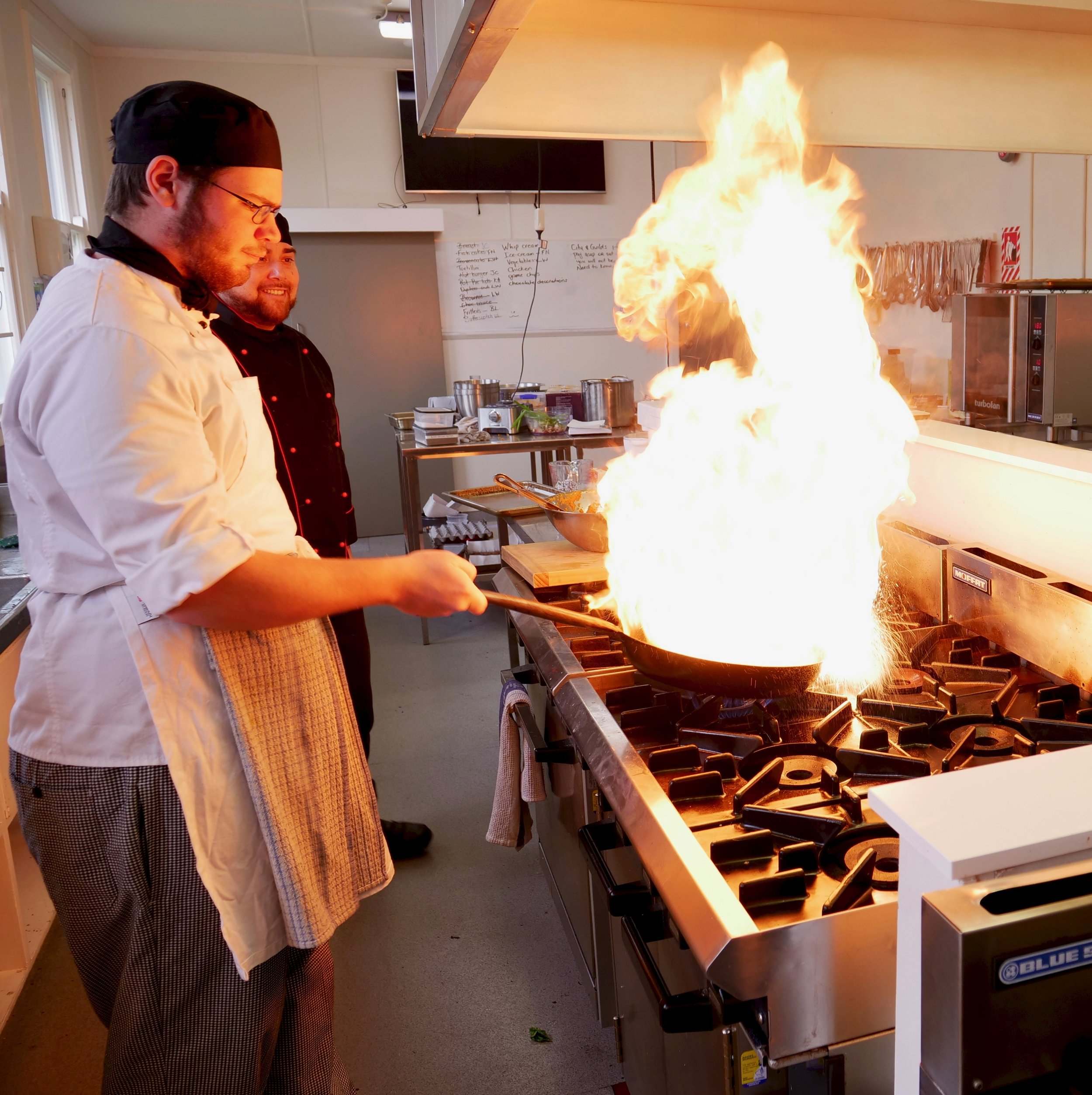 Chef Student in Kitchen