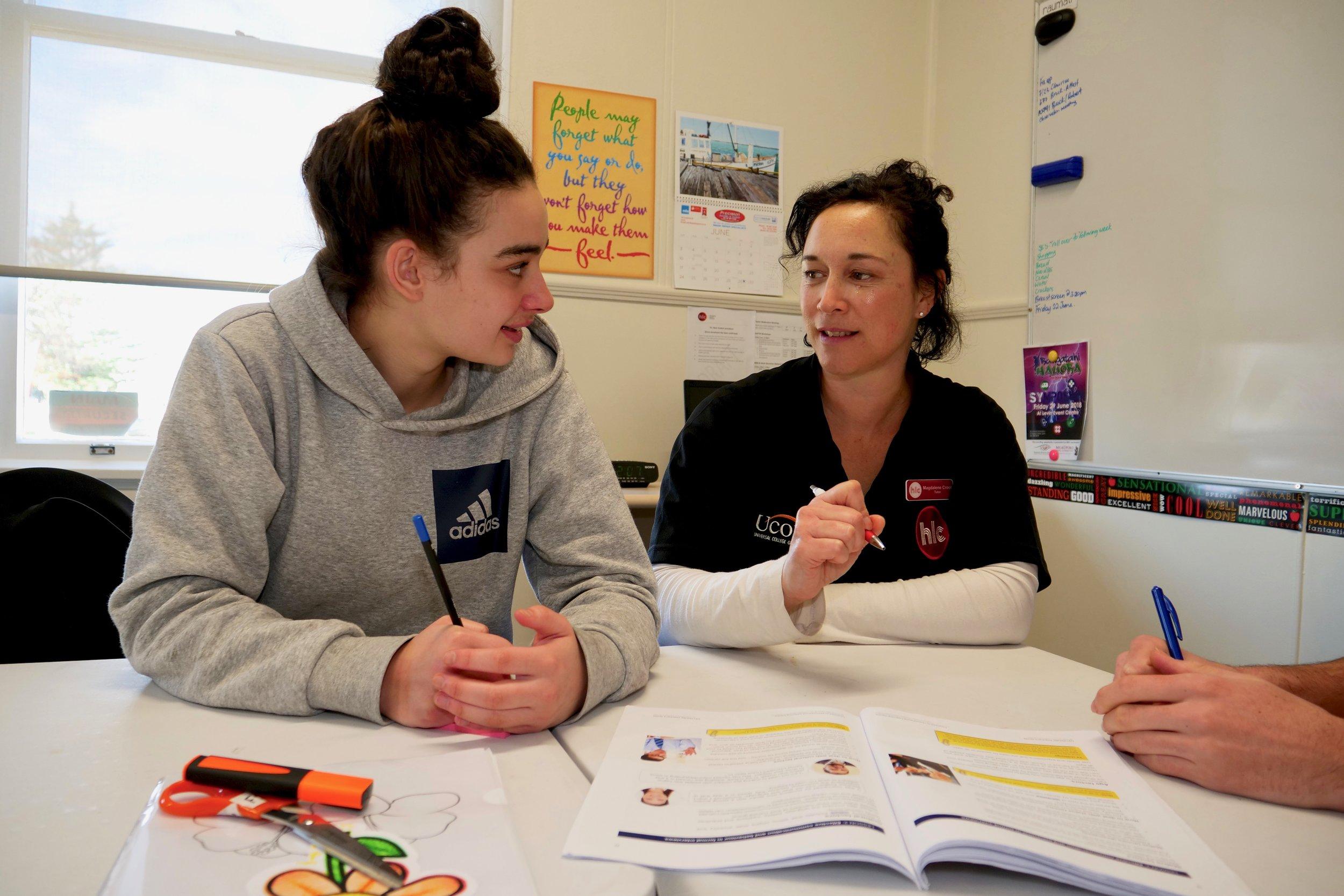 Foundation Skills Student and tutor