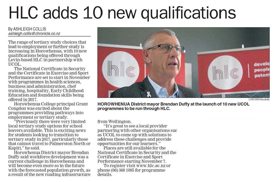 HLC adds 10 new qualifications.jpg