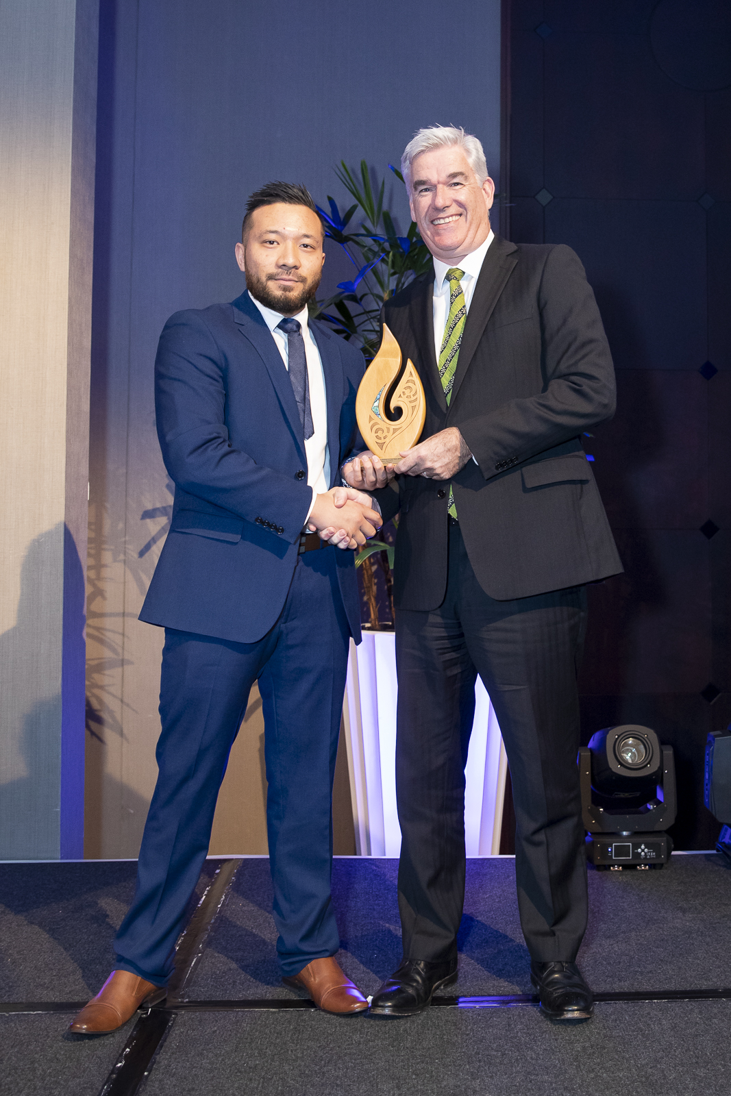 Shaun Maletino with Patrick Rennell (CEO of HLC) - Manpower Trainee of the year 2019