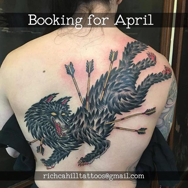 Booking now for April. RichCahillTattoos@Gmail.com