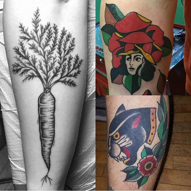 One week from today- FRIDAY JUNE 14 @christianminicktattoo will be here! DM him to make an appointment or take your chances walking in, first come first served. He's bringing along some fun flash designs which will be 80-200 as well