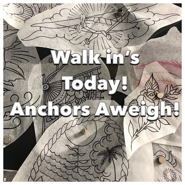 @rich_cahill Is Taking Walk in's today. Drop by the shop and pick it a burner. #anchorsaweightattoo