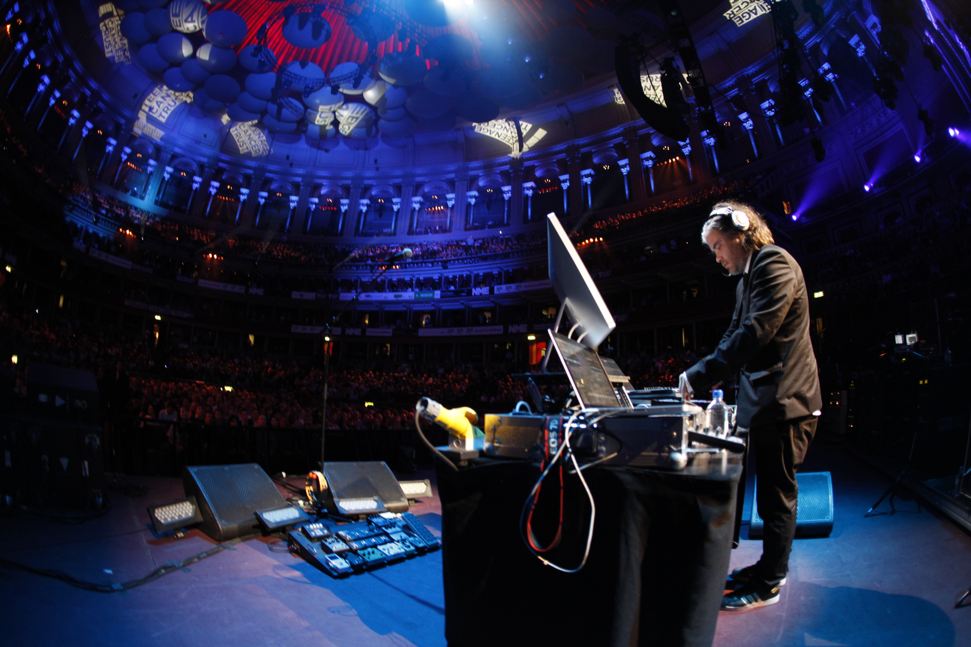 Chris Holmes DJing at Royal Albert Hall with Paul McCartney