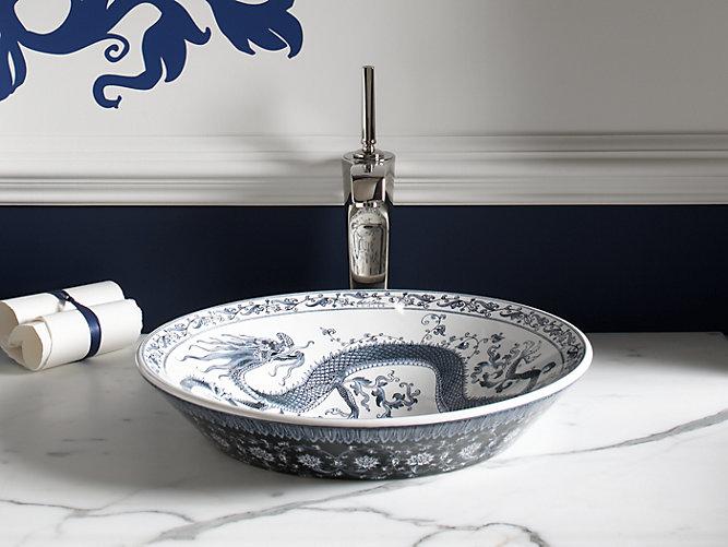 Kohler Artist Adition sink in Imperial Blue