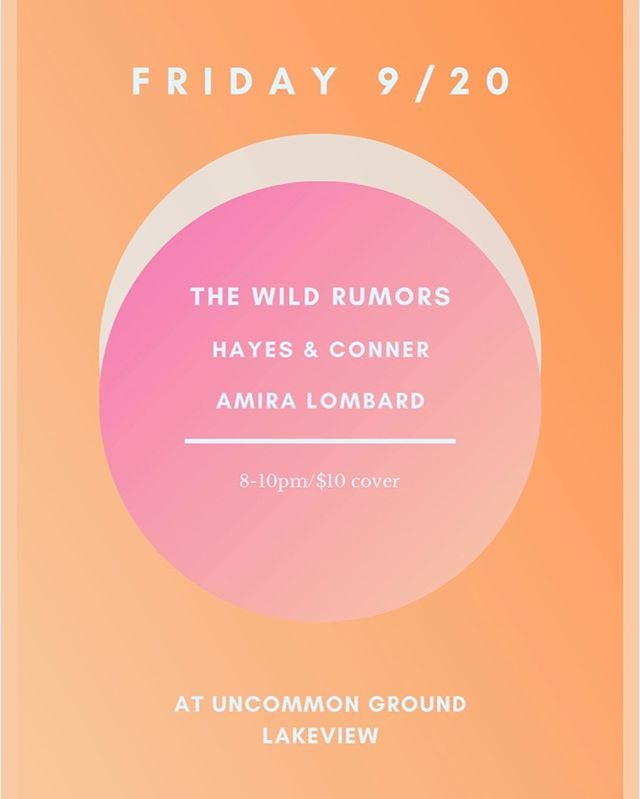 **THIS FRIDAY!!** Pretty excited to play some of our new/old originals (and a couple covers) at @uncommongroundchi (Lakeview) on 9/20! With our buds @baldgreagle and @___mr.chips___, and sets by the killer @amiralombardmusic and @hayesandconner! Music starts at 8pm and head on up to our bio for advance tickets (it's a small room, so they'll fly). See you there? 😬🤞🏻 . . . #uncommongroundchicago #lakeview #originalmusic #countryjazz #chicagosingersongwriter