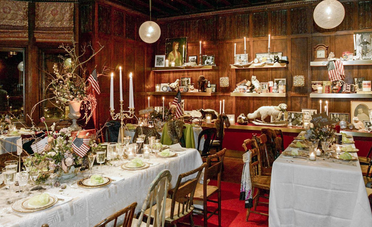 VOGUE - Inside Linda Fargo's Epic Grey Gardens–Themed Birthday Party at Hayward House