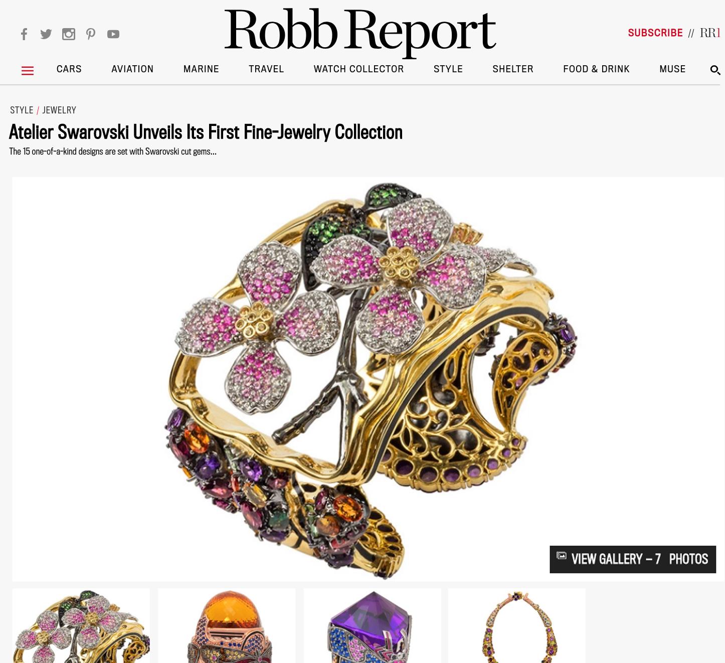 ROBB REPORT - Atelier Swarovski Unveils Its First Fine-Jewelry Collection