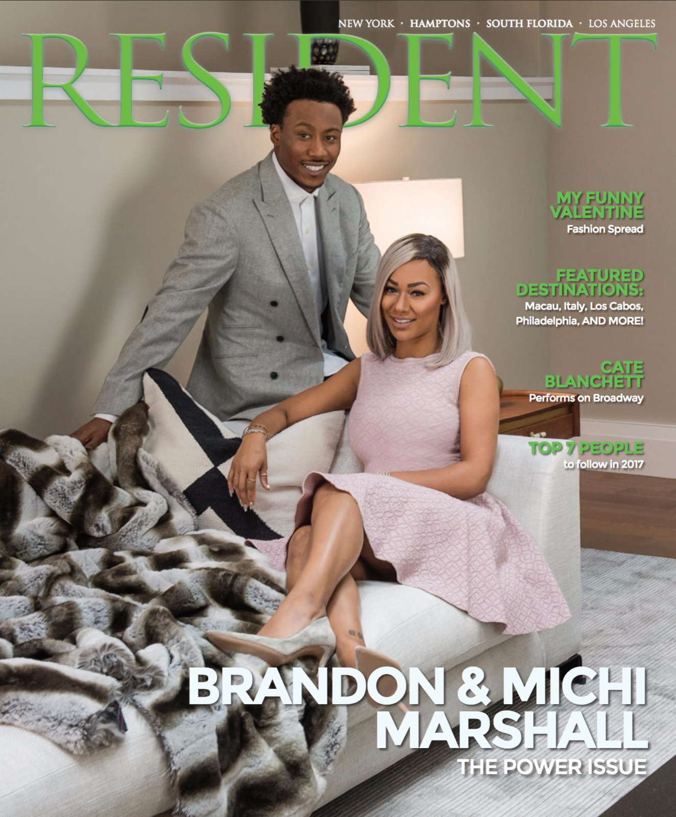 Brandon & Michi Marshall by photographer Andrew Werner for Resident Magazine - Cover - Feb 2017.png