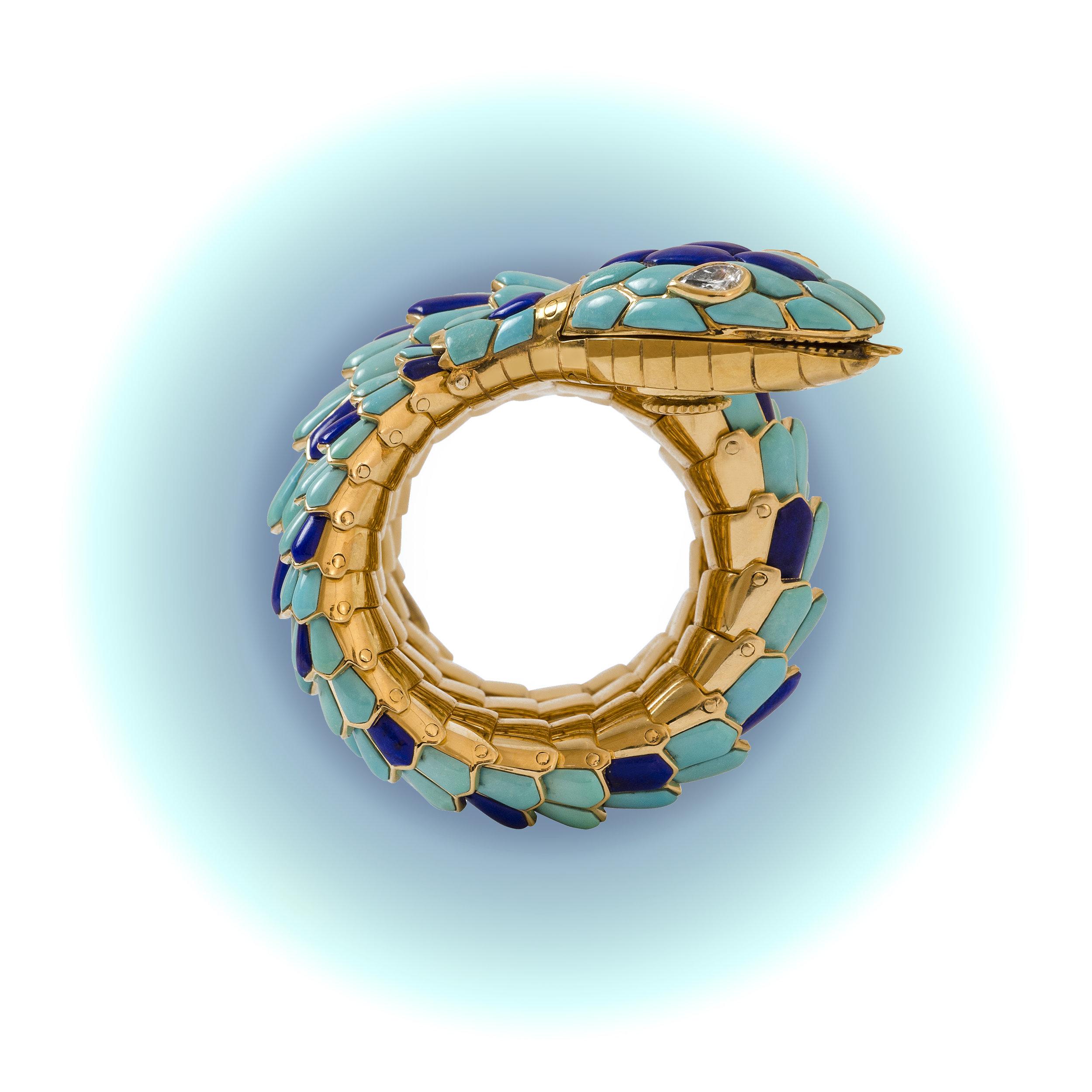 BULGARI Serpenti Enamel watch teal.jpg