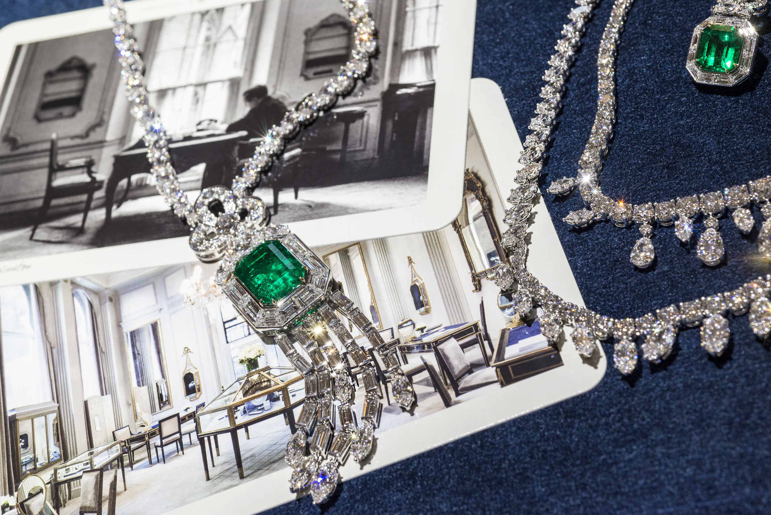 Harry Winston 718 Emerald Vitrine Necklace and Chandelier necklace by Andrew Werner, AHW_2671.jpg