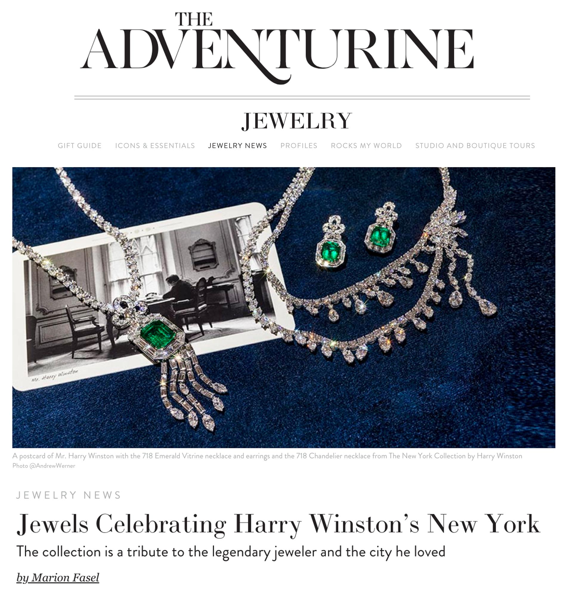 THE ADVENTURINE - JEWELS CELEBRATING HARRY WINSTON'S NEW YORK
