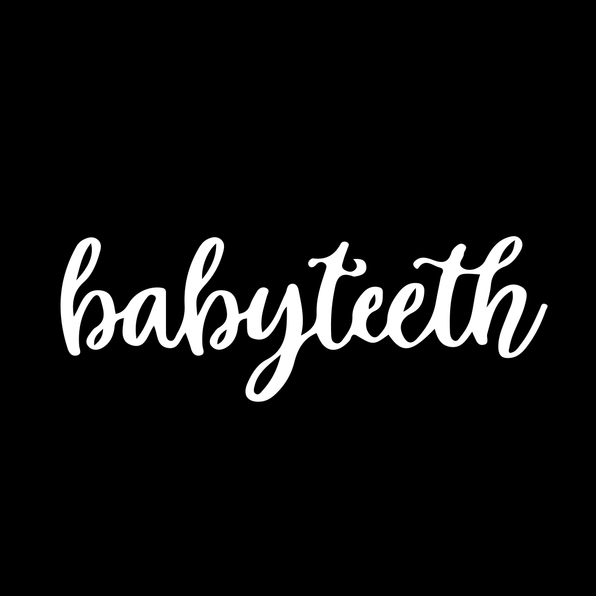Baby Teeth Text Logo