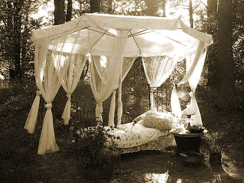 bed outdoors sepia.jpg