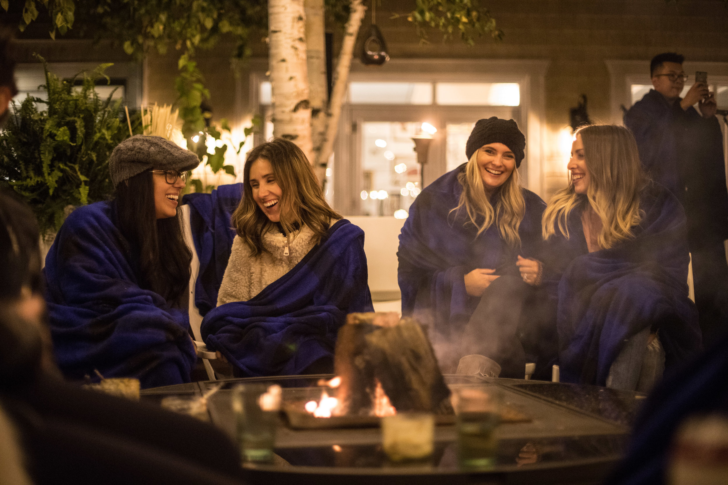 Keeping Warm by the Fire Pit (Photo by  @thejupiterspin )