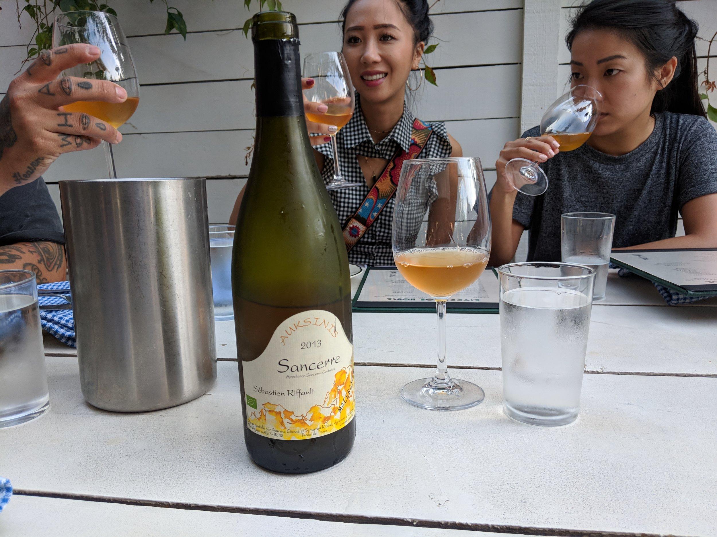natural sancerre orange wine