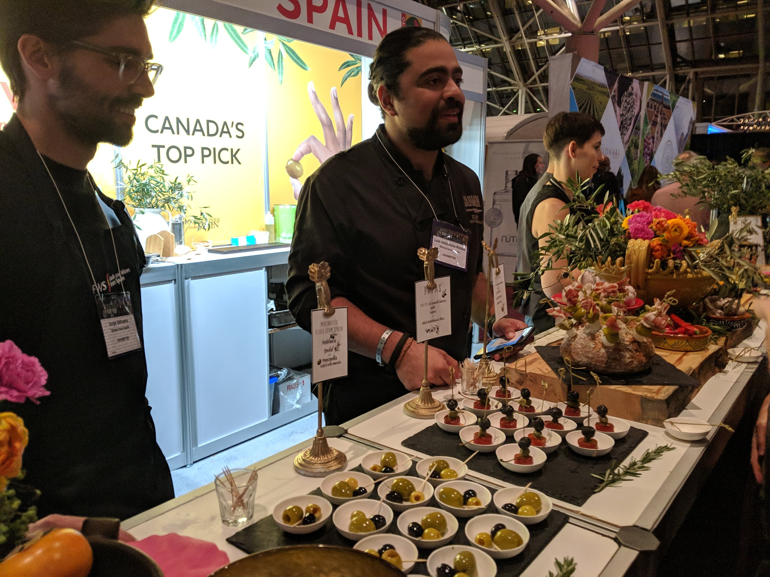 olives from spain gfwe chef luis valanzuela
