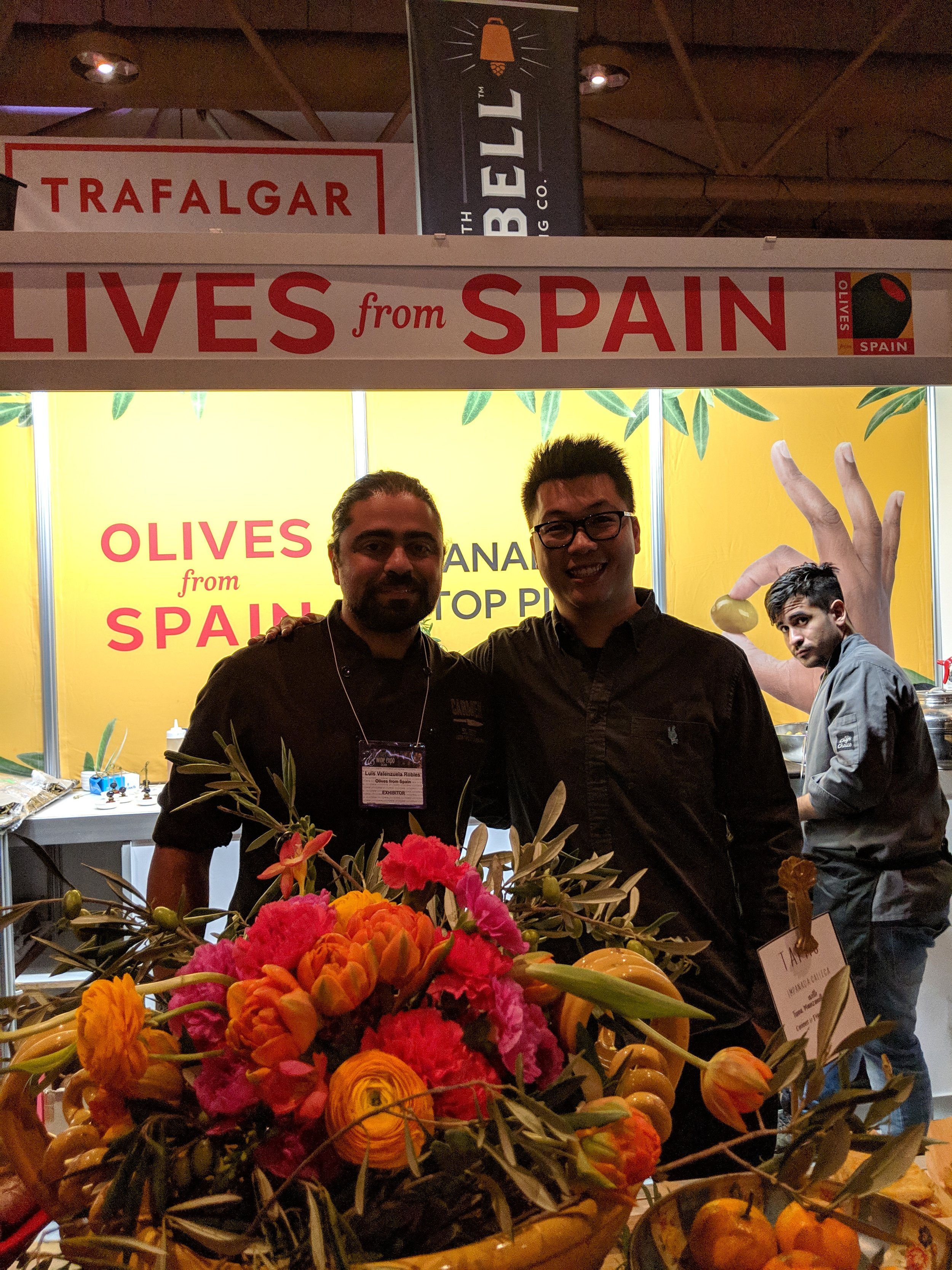 chef luis valanzuela hubert leung good food toronto olives from spain