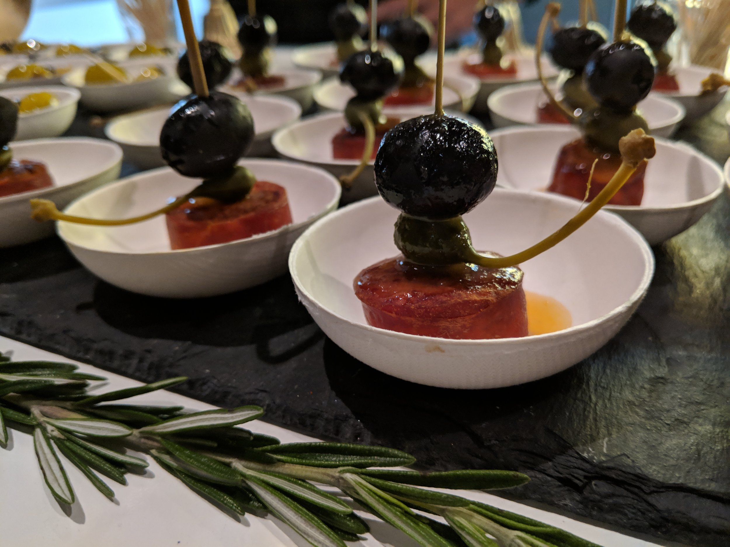 hojiblanca pintxos olives from spain