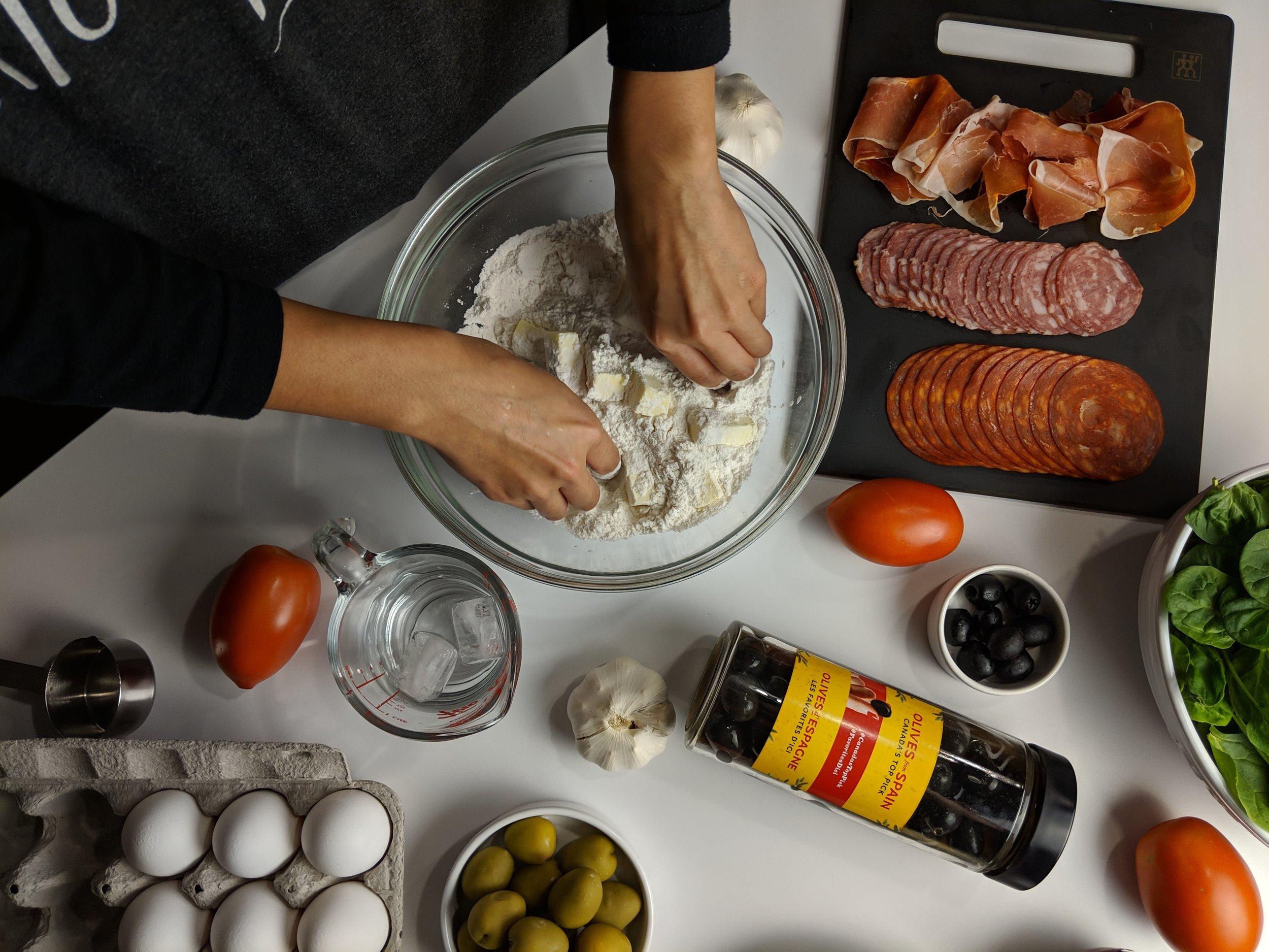 making olives from spain breakfast tart