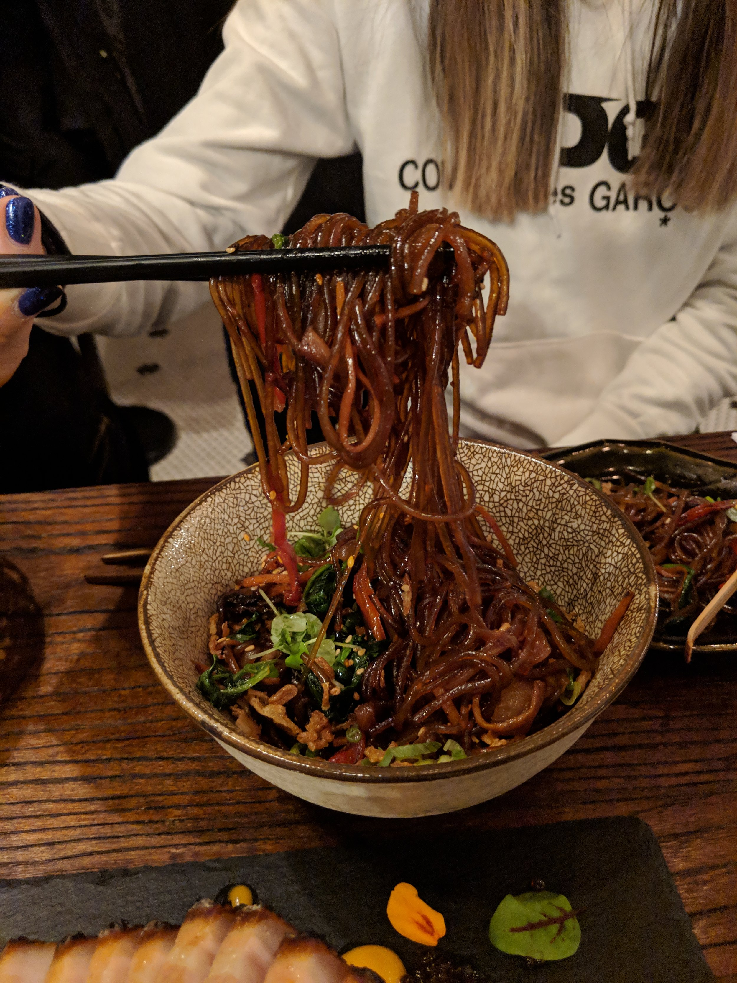 Japchae (Korean Stir Fried Glass Noodles)
