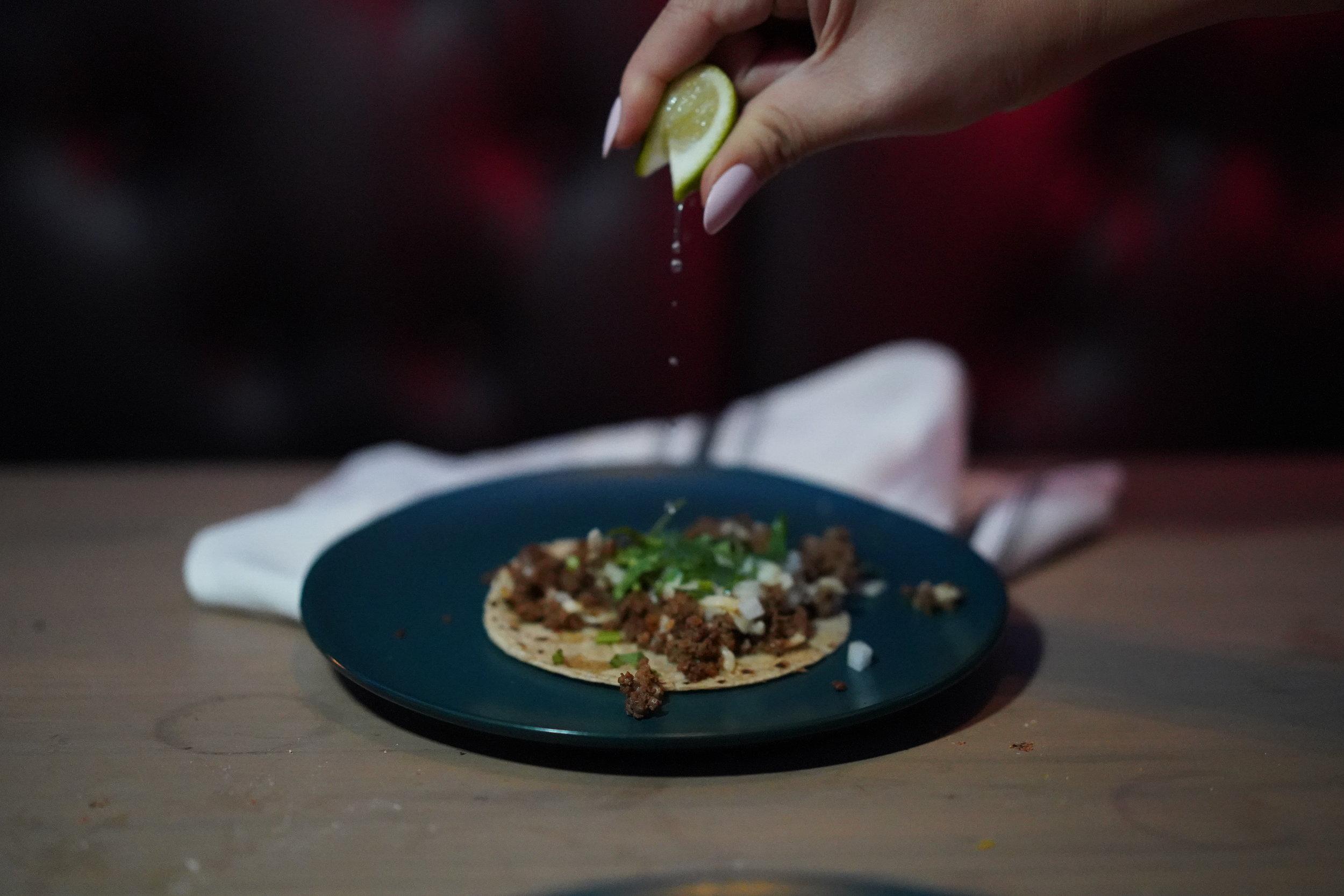 carlotta bar taco lime squeeze