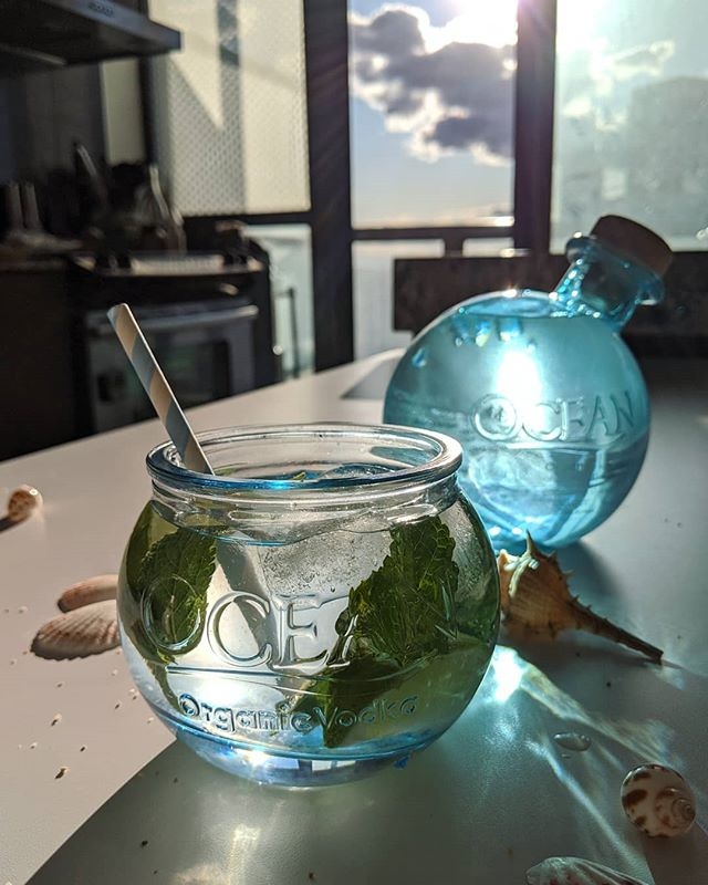 Made a refreshing cocktail with @oceanvodka and coconut water. This unique vodka from Hawaii is made with organic sugar cane and deep ocean mineral water. 🌊 I would get it just for the bottle.😂 Easy to make cocktail: Muddle some mint, add Ocean Vodka, coconut water, lime and ice. Cheers to the long weekend! @sgwinespirits @notablelife @iyellowwineclub #oceanvodka #vodka #cocktails #hawaii #organic #toronto . . #foodblog #instafood #torontofood #foodtoronto #多伦多 #instafood #foodblogger #blogto #eatfamous #tofood #torontolife #torontoeats #canada #goodfoodtoronto