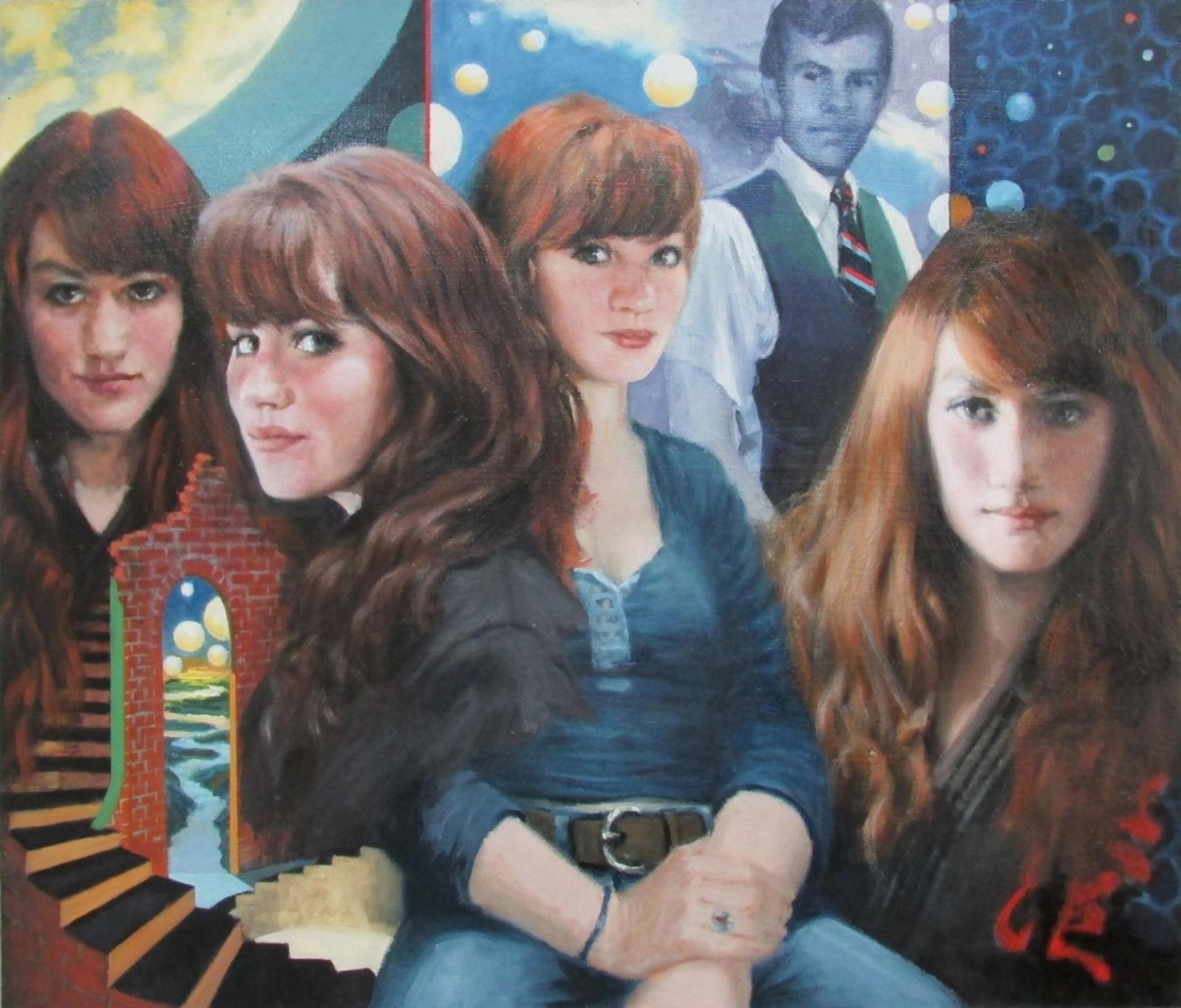 """Sample Portrait  - Ms Kohleen M Lyons 24"""" x 28"""" Oil on Masonite Panel"""