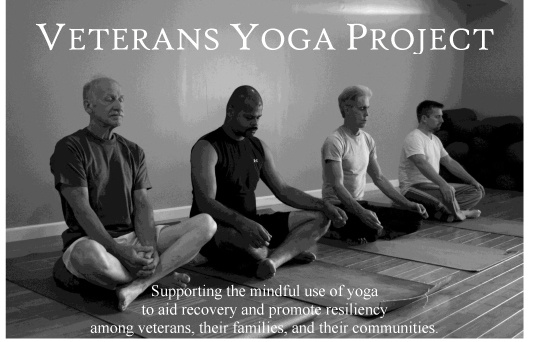 The  Veterans Yoga Project  presents free yoga classes every Wednesday at the Seattle Vet Center.